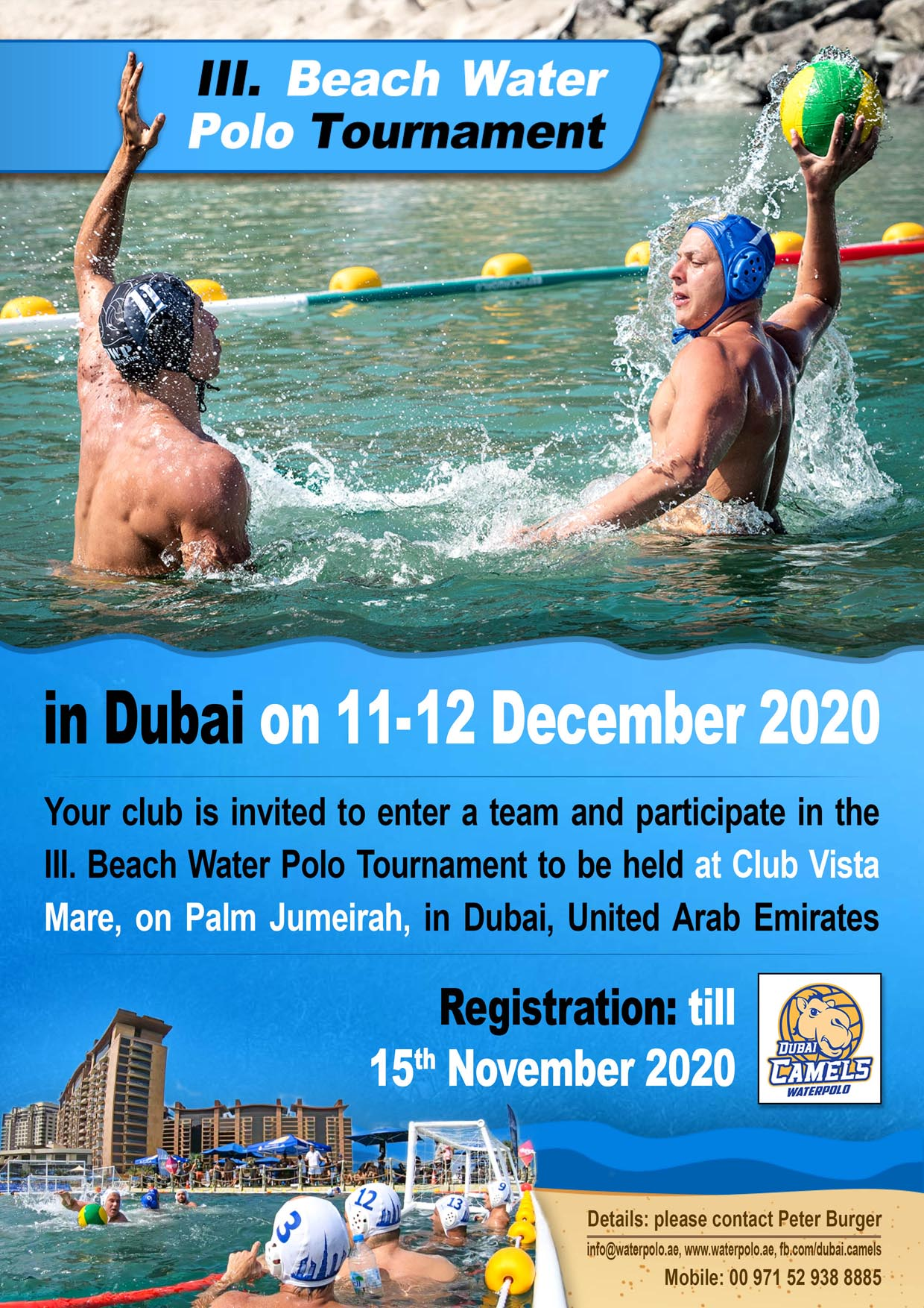 Beach Water Polo Tournament 11-12 December 2020